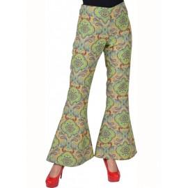 Déguisement pantalon hippie femme Summer of love luxe