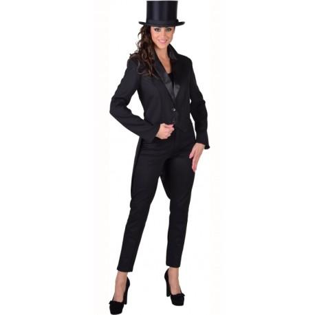 Déguisement queue de pie cabaret noire femme luxe