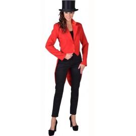 Déguisement queue de pie cabaret rouge femme luxe