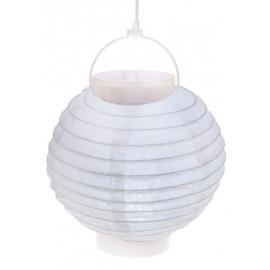Lampion lumineux boule papier blanc 20 cm