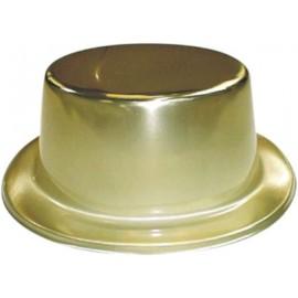Chapeau Metallise Or Haut de Forme