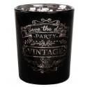 Photophores vintages noirs en verre les 12