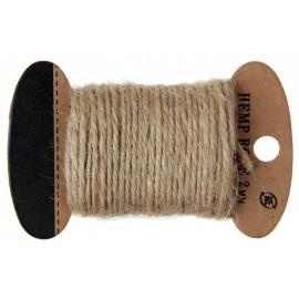 Cordon coton naturel 2 mm x 10 M