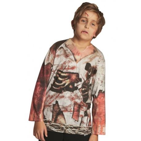 Déguisement T-Shirt zombie garçon