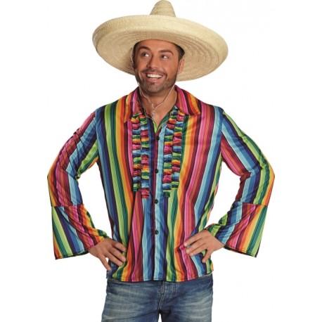 Déguisement chemise mexicaine homme