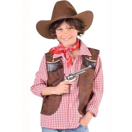 Déguisement gilet cowboy garçon luxe