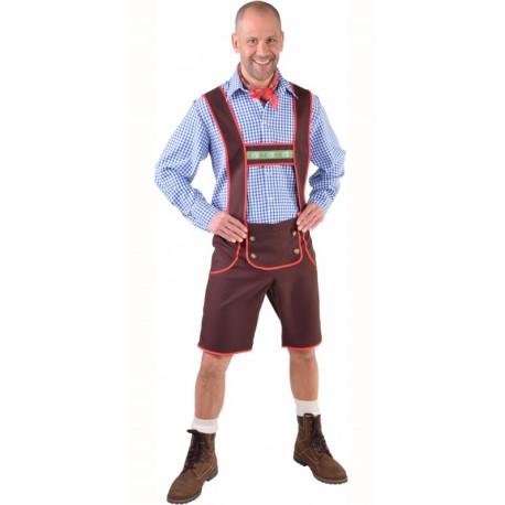 Déguisement pantalon tyrolien brun homme luxe