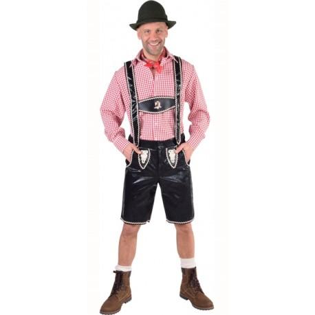 Déguisement pantalon tyrolien noir homme luxe