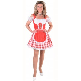 Déguisement tyrolienne rouge femme luxe