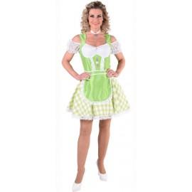 Déguisement tyrolienne vert anis femme luxe