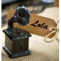 Marque place gramophone noir vintage les 2