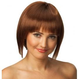 Perruque brune courte femme
