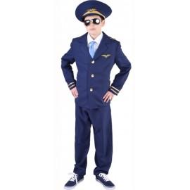 Déguisement pilote de ligne garçon (aviateur) luxe