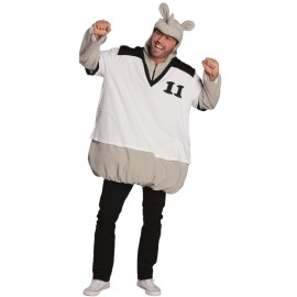 Déguisement rhinocéros footballeur homme