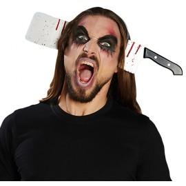 Serre-tête couperet ensanglanté adulte Halloween