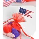 Piques cocktail drapeau américain USA les 10