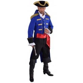 Déguisement manteau amiral bleu cobalt homme luxe