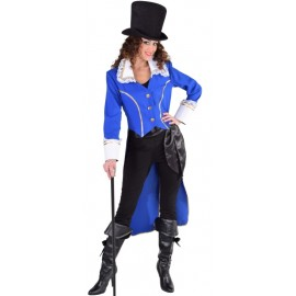 Déguisement manteau amiral bleu cobalt femme luxe