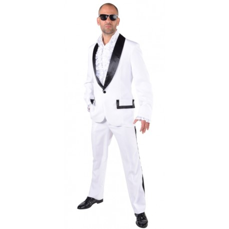 Déguisement smoking blanc homme luxe