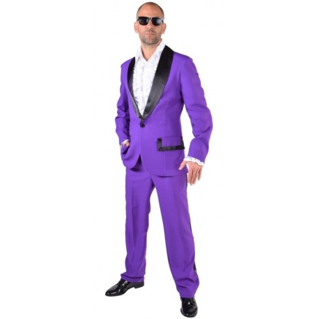 Déguisement smoking violet homme luxe