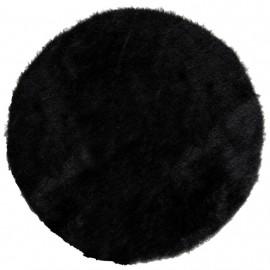 Set de table fausse fourrure noire 34 cm les 4