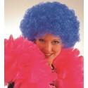 Perruque pop bleue adulte