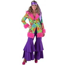 Déguisement 70's hippie chic femme luxe