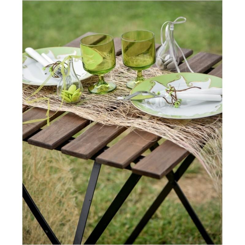 chemin de table abaca jaune 5 m achat chemin de table. Black Bedroom Furniture Sets. Home Design Ideas