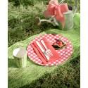 Chemin de table abaca vert anis 5 M