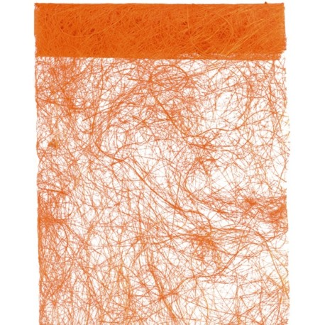 Chemin de table abaca orange 5 M