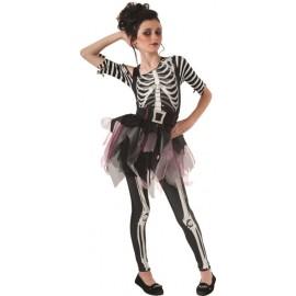 Déguisement ballerine squelette fille