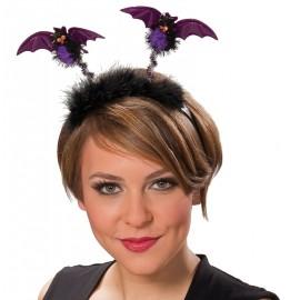 Serre-tête chauve-souris noir violet adulte