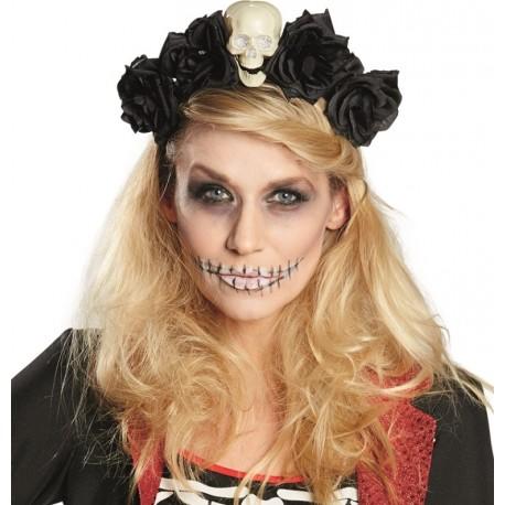 Serre-tête La Catrina Dia de los muertos femme Halloween