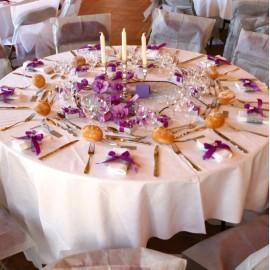 Nappe ronde intissé opaque : Décoration de table mariage fête