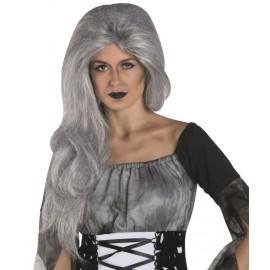 Perruque grise longue femme Halloween