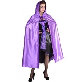 Déguisement Cape vénitienne violette adulte luxe