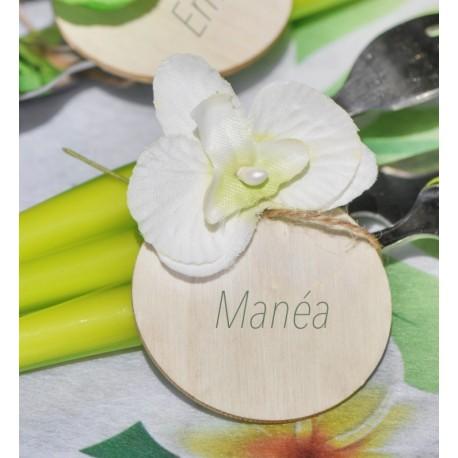 Orchidée ivoire sur tige les 6