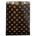 Sachets papier ardoise (noir) à pois kraft 18 cm les 24
