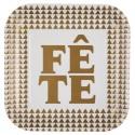 Assiettes carton Fête or 22.5 cm les 10