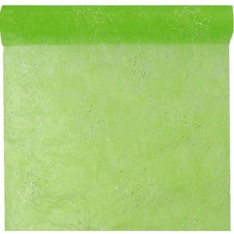 Chemin de table diamant vert anis 5 M