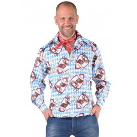 Déguisement chemise tyrolienne Alm Hirsch homme luxe