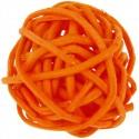Boules rotin orange 3 cm les 12