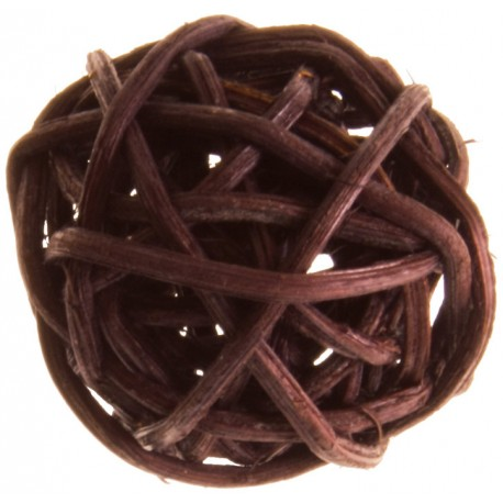 Boule rotin chocolat 3 cm les 12