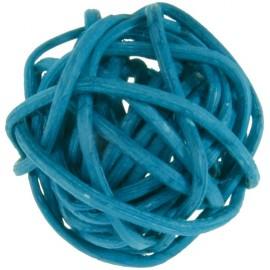 Boule rotin turquoise 3 cm les 12