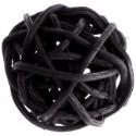 Boules rotin noir 3 cm les 12