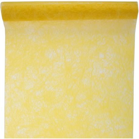 Chemin de table fanon jaune 5 M