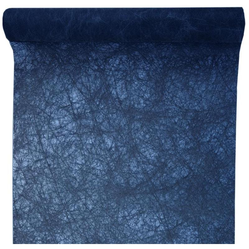 chemin de table fanon bleu marine achat chemin de table. Black Bedroom Furniture Sets. Home Design Ideas