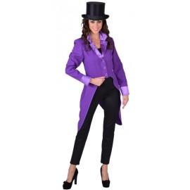Déguisement queue de pie violette femme luxe