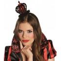 Serre-tête couronne reine rouge et noire femme