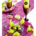 Chemin de table prune scintillant or 5 M